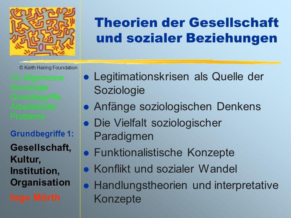 Theorien der Gesellschaft und sozialer Beziehungen