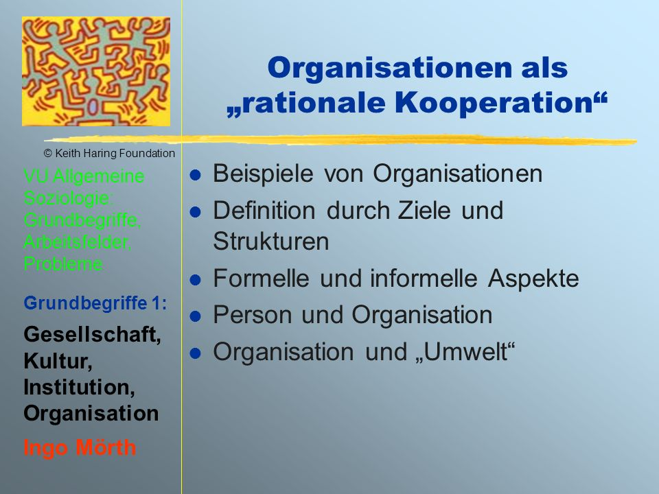 "Organisationen als ""rationale Kooperation"