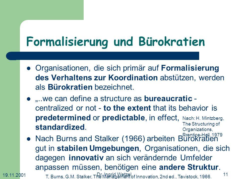Formalisierung und Bürokratien