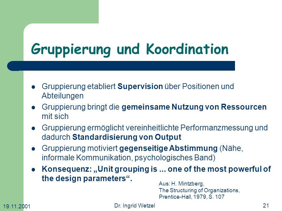 Gruppierung und Koordination