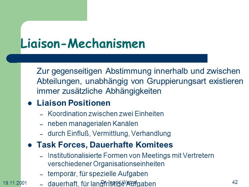 Liaison-Mechanismen