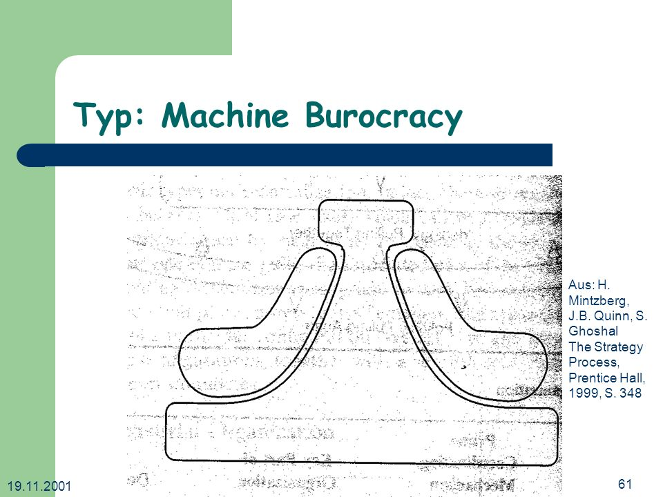 Typ: Machine Burocracy