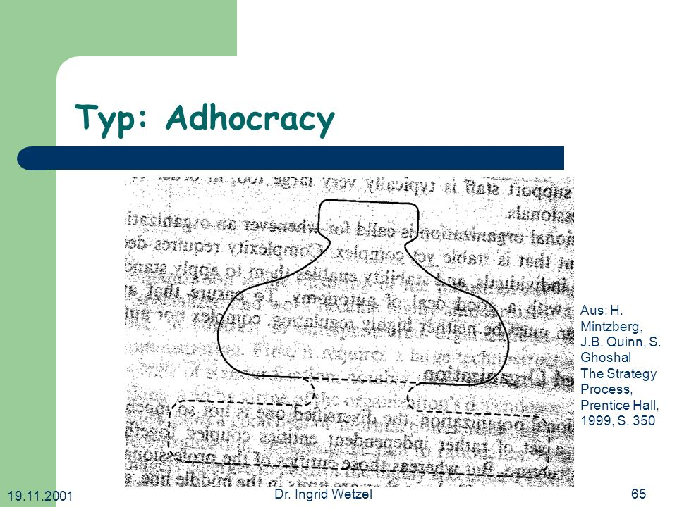 Typ: Adhocracy Aus: H. Mintzberg, J.B. Quinn, S. Ghoshal