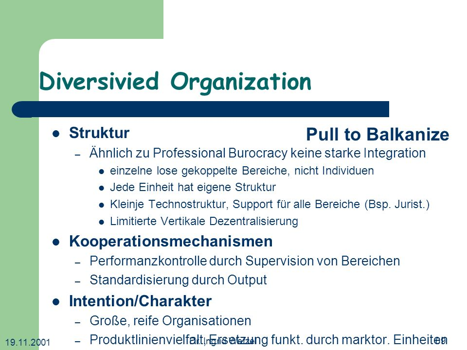 Diversivied Organization