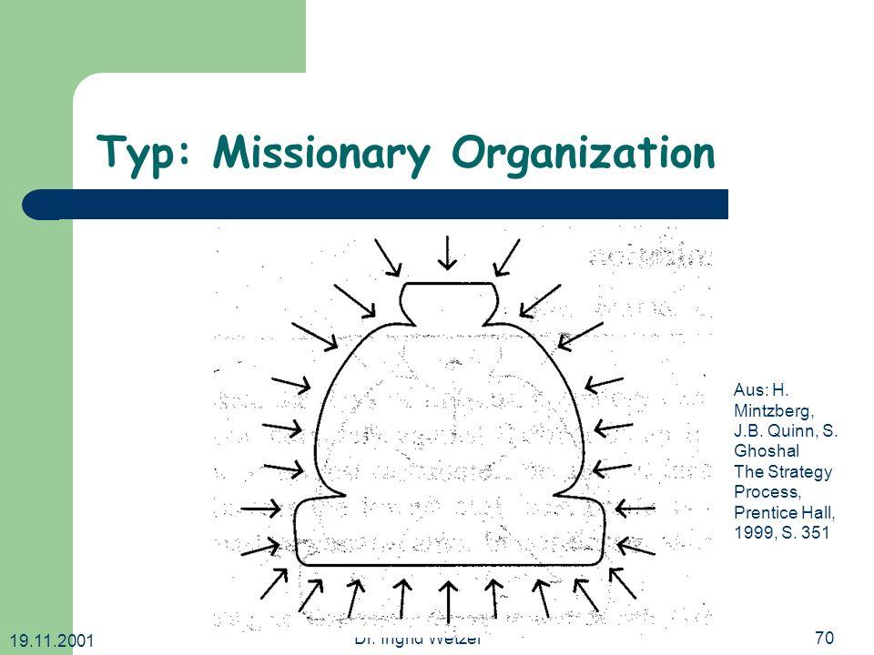 Typ: Missionary Organization