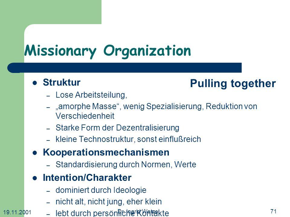 Missionary Organization