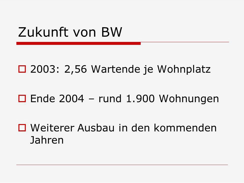 Zukunft von BW 2003: 2,56 Wartende je Wohnplatz