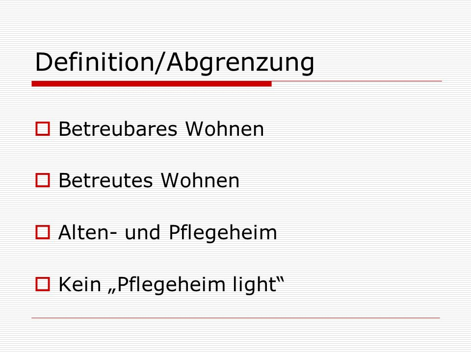 Definition/Abgrenzung