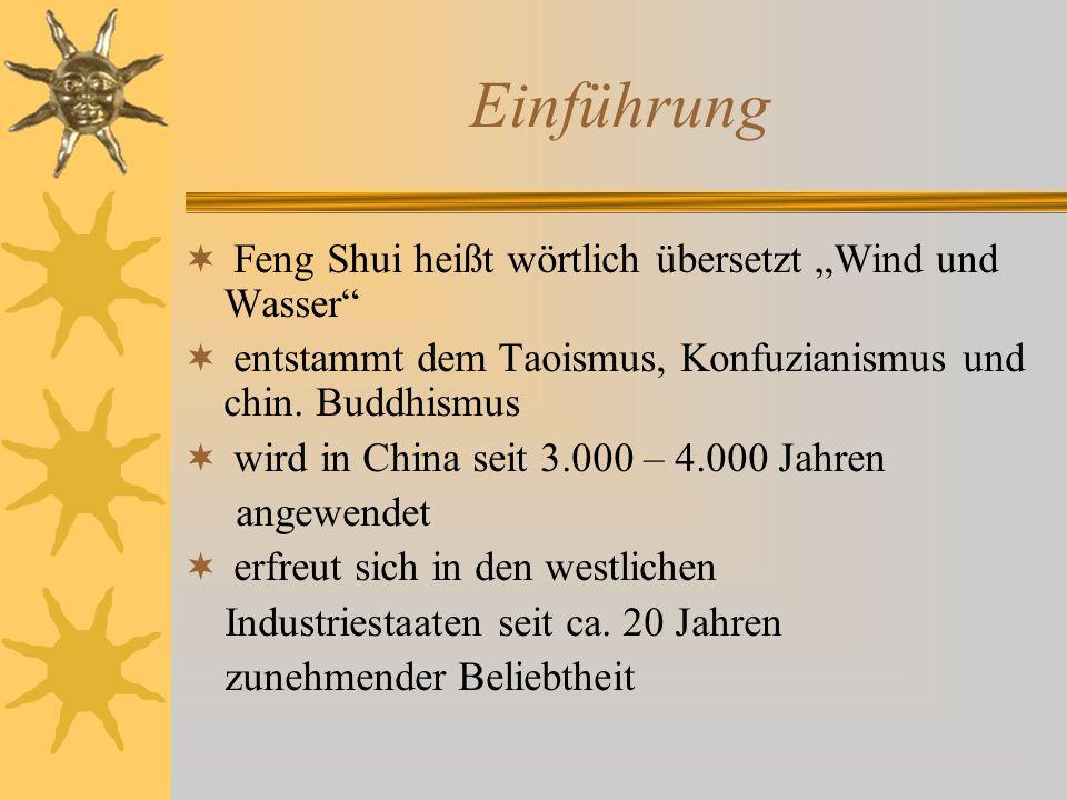 """Einführung Feng Shui heißt wörtlich übersetzt """"Wind und Wasser"""