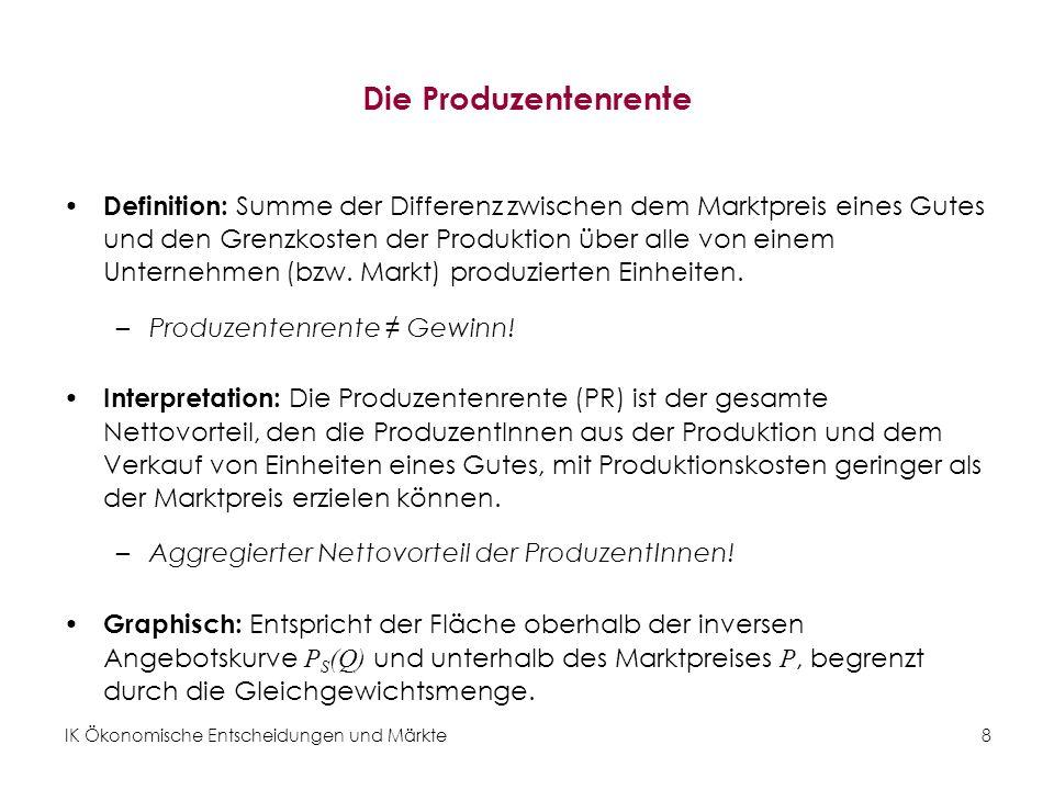 Die Produzentenrente