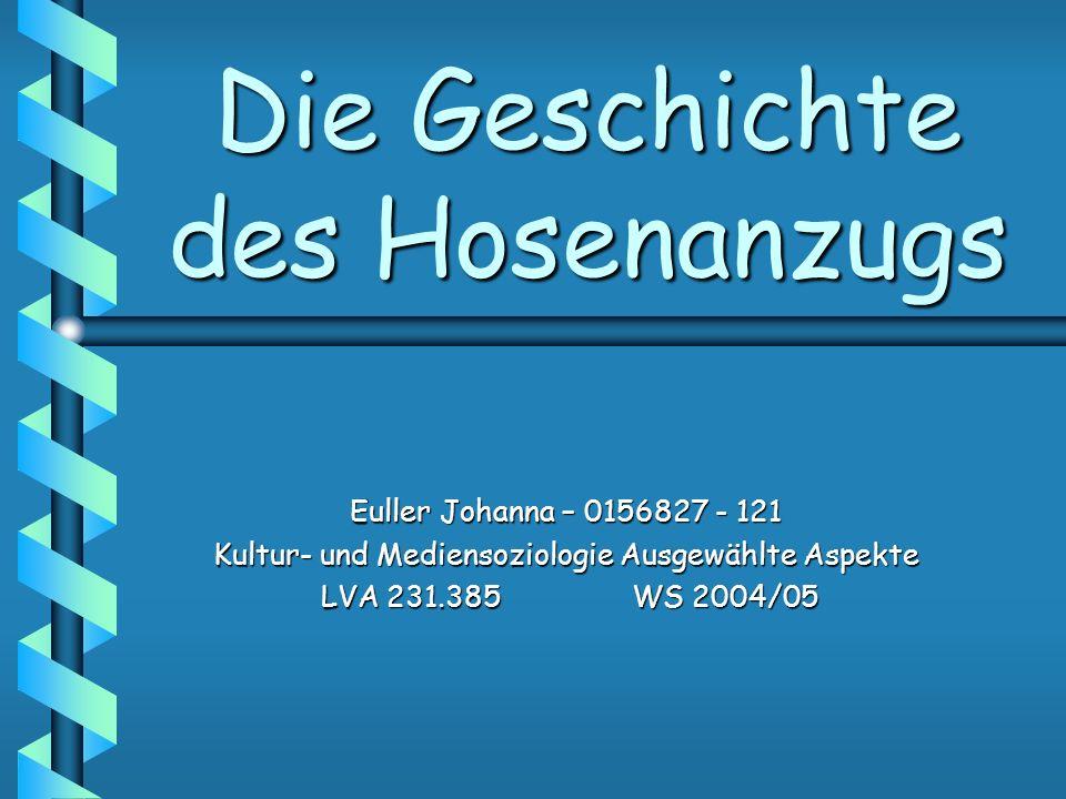 Die Geschichte des Hosenanzugs