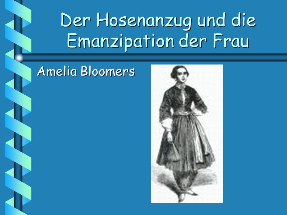 Der Hosenanzug und die Emanzipation der Frau