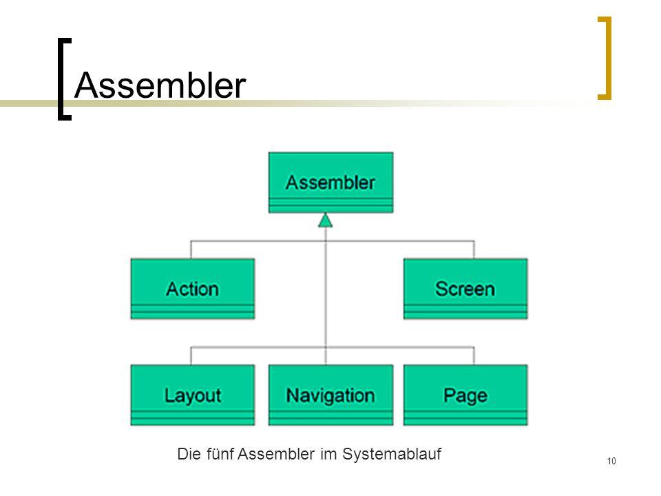 Assembler Die fünf Assembler im Systemablauf