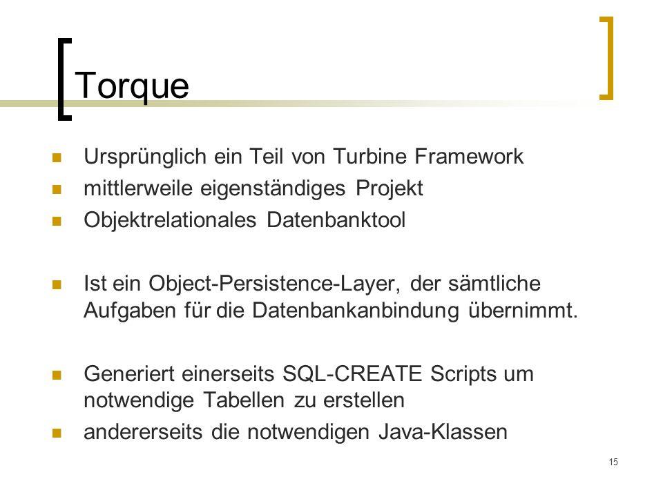 Torque Ursprünglich ein Teil von Turbine Framework