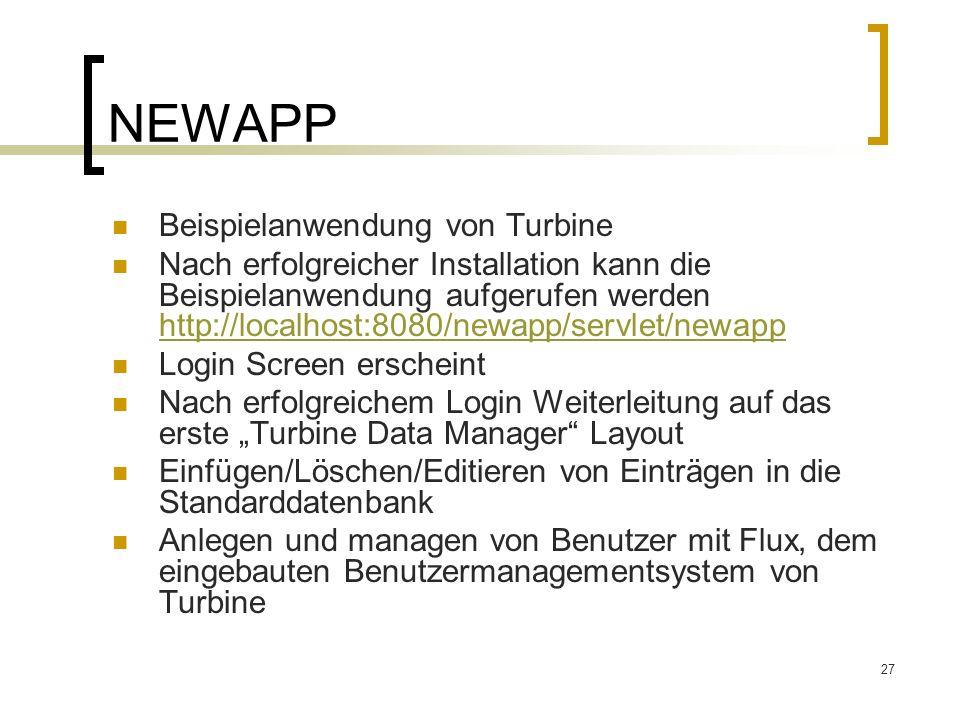 NEWAPP Beispielanwendung von Turbine