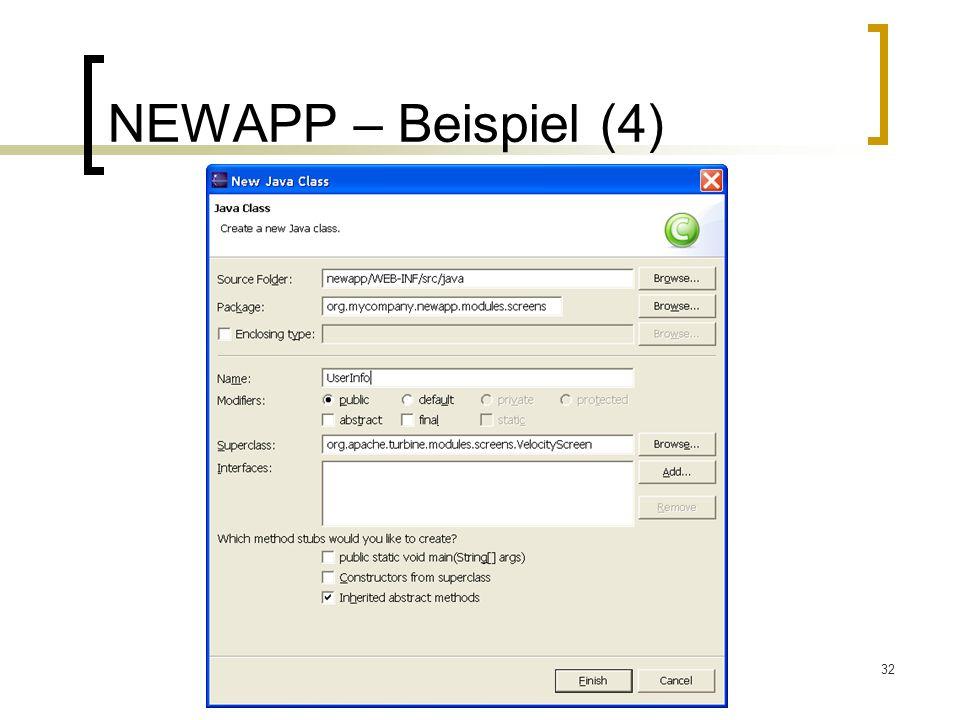 NEWAPP – Beispiel (4)