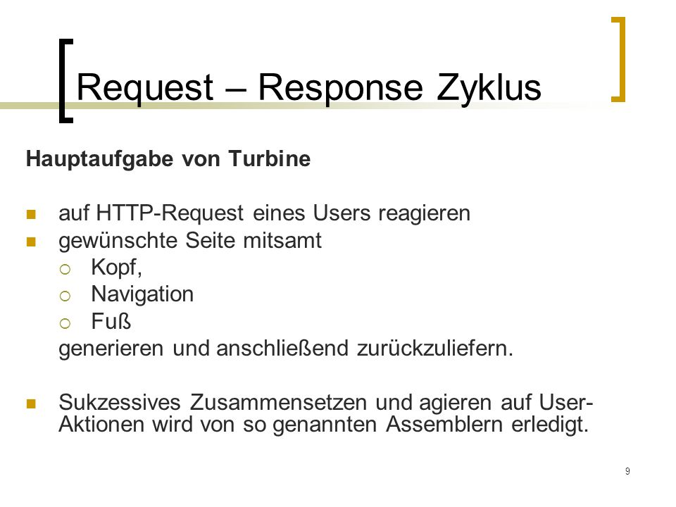 Request – Response Zyklus