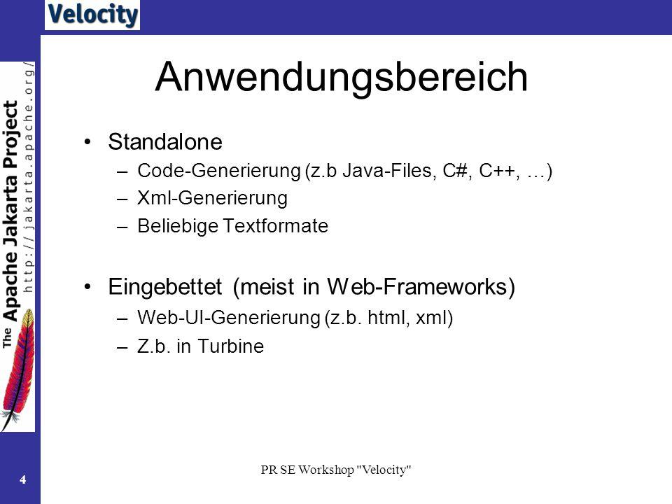 Anwendungsbereich Standalone Eingebettet (meist in Web-Frameworks)