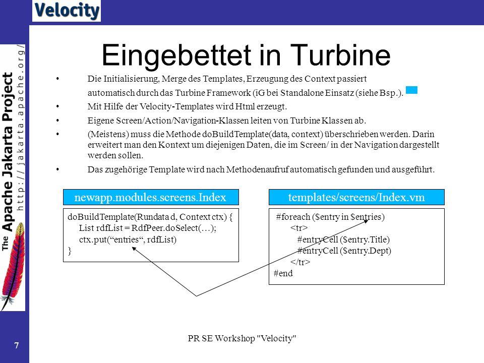 Eingebettet in Turbine