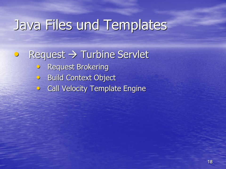 Java Files und Templates