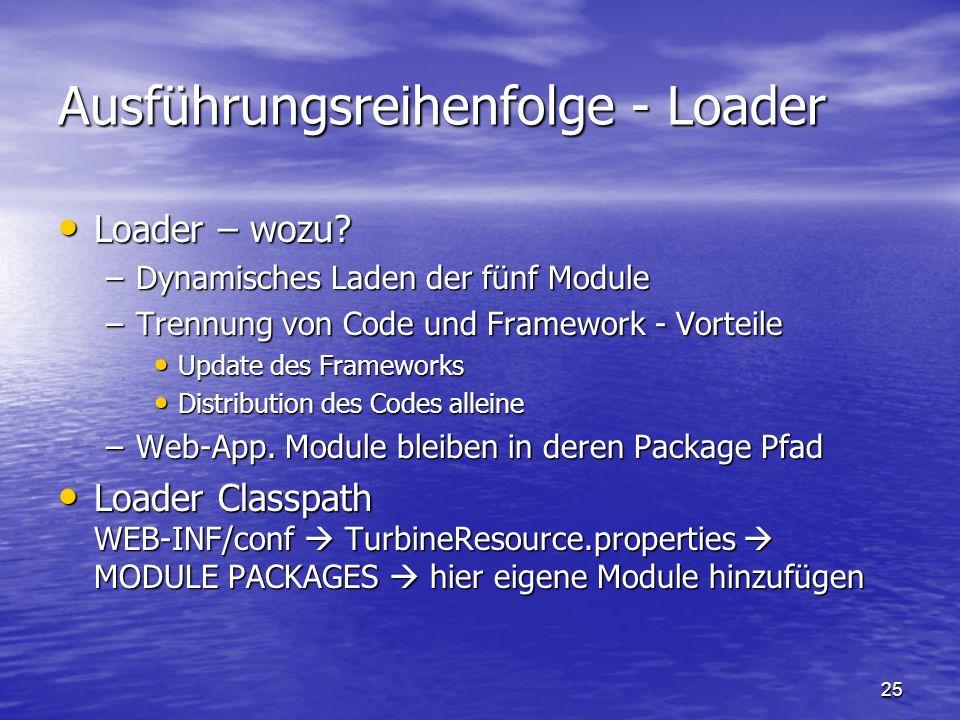 Ausführungsreihenfolge - Loader