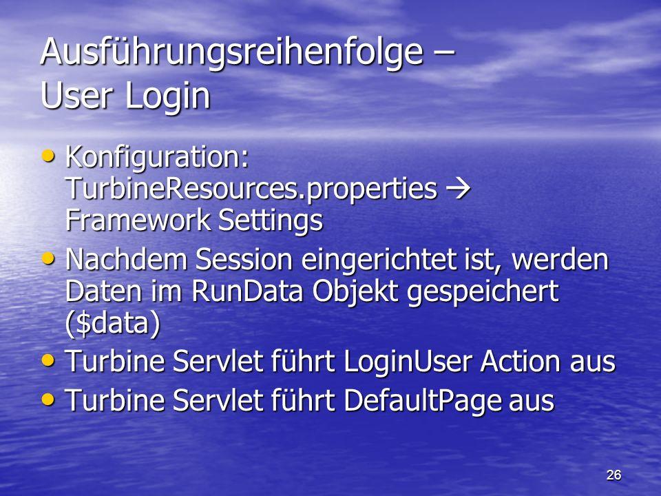 Ausführungsreihenfolge – User Login