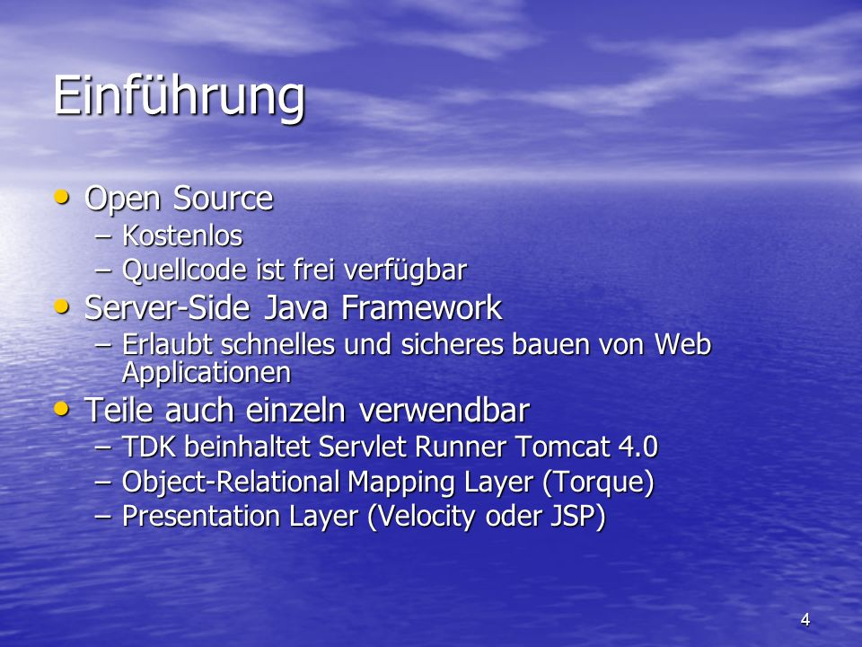 Einführung Open Source Server-Side Java Framework