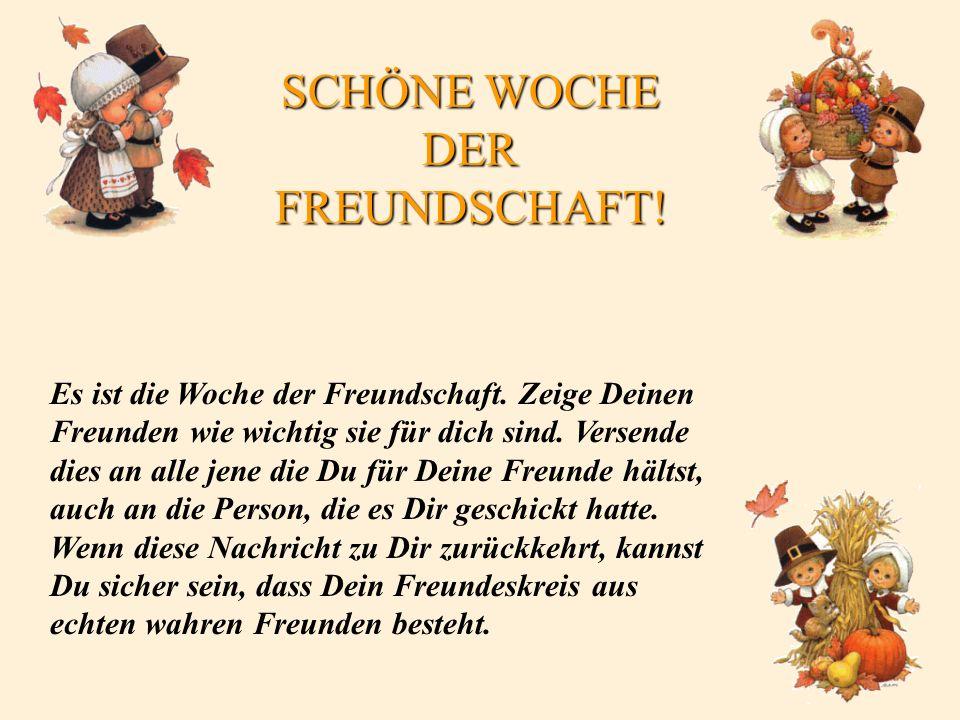 SCHÖNE WOCHE DER FREUNDSCHAFT!