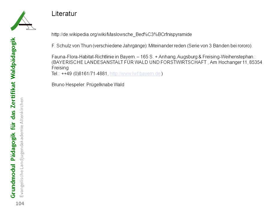 Literatur http://de.wikipedia.org/wiki/Maslowsche_Bed%C3%BCrfnispyramide.
