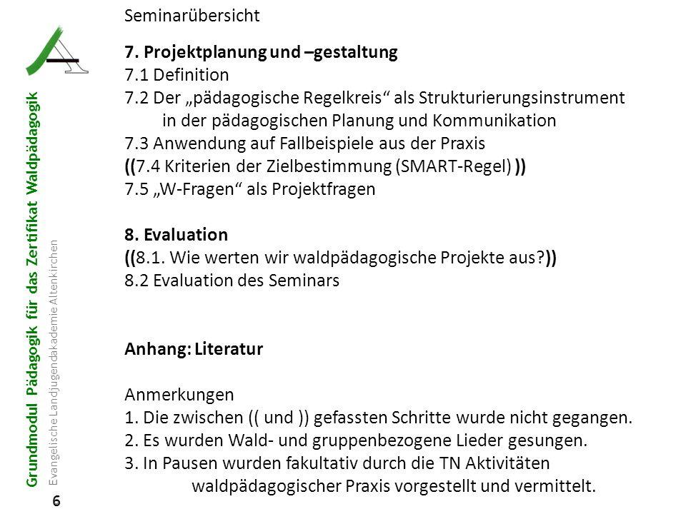 7. Projektplanung und –gestaltung 7.1 Definition