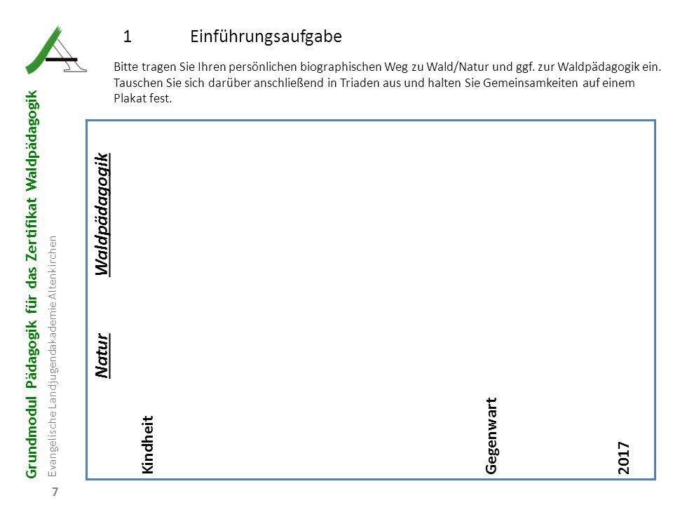 1 Einführungsaufgabe Waldpädagogik Natur Gegenwart Kindheit 2017