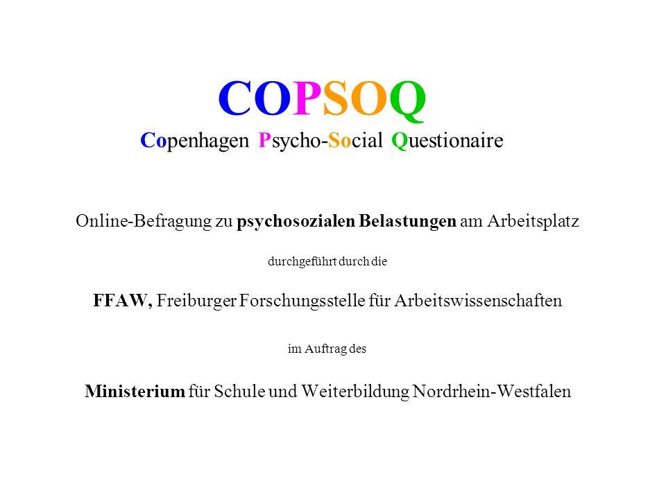 COPSOQ Copenhagen Psycho-Social Questionaire