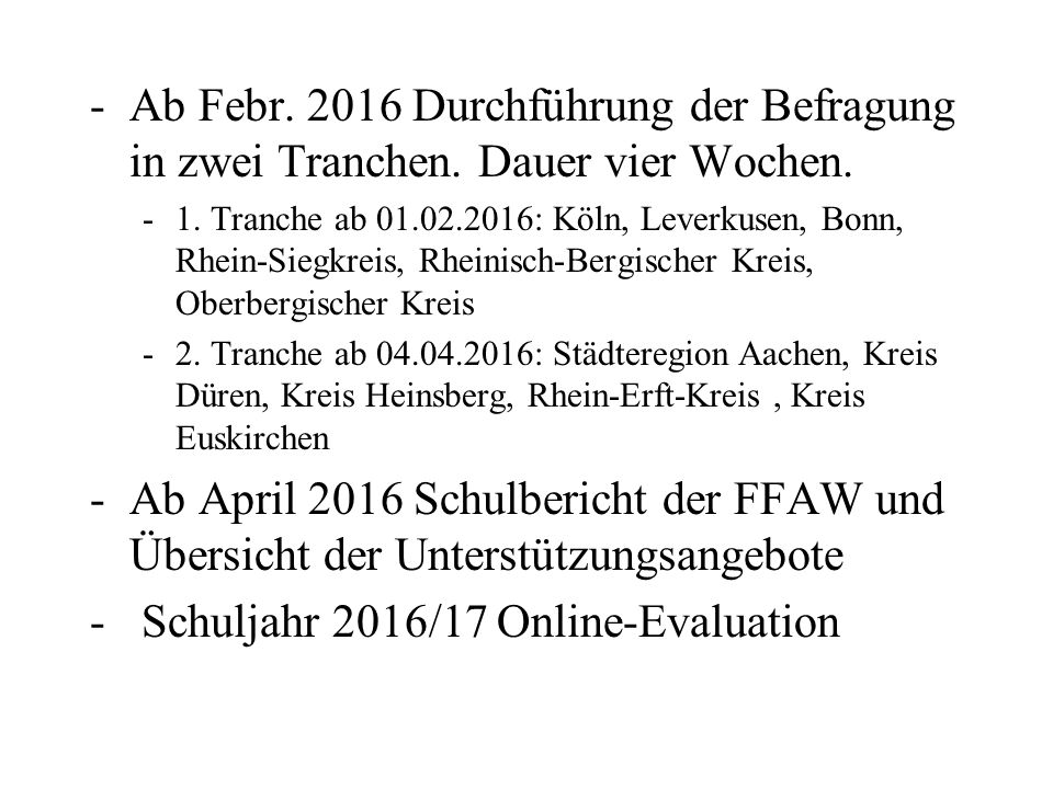Schuljahr 2016/17 Online-Evaluation