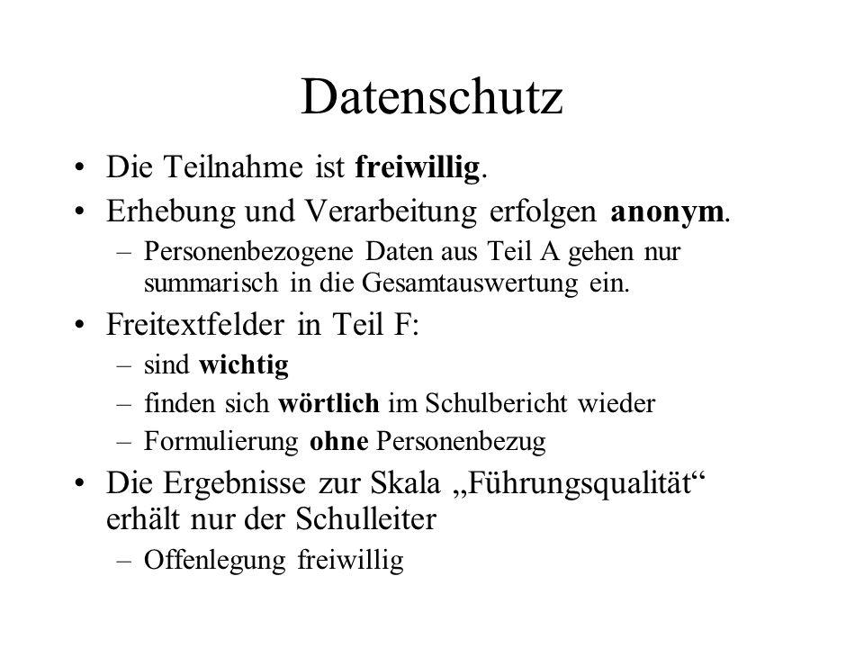Datenschutz Die Teilnahme ist freiwillig.