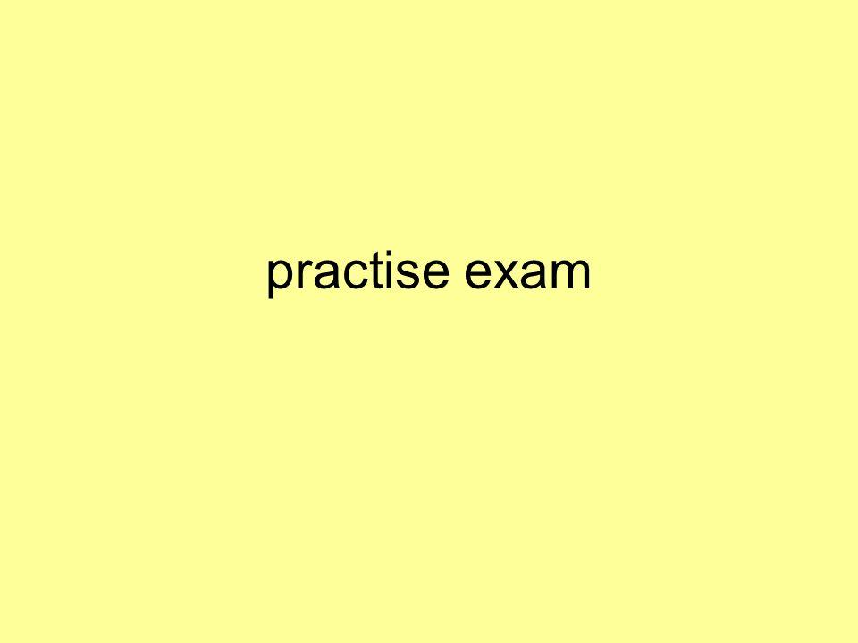 practise exam