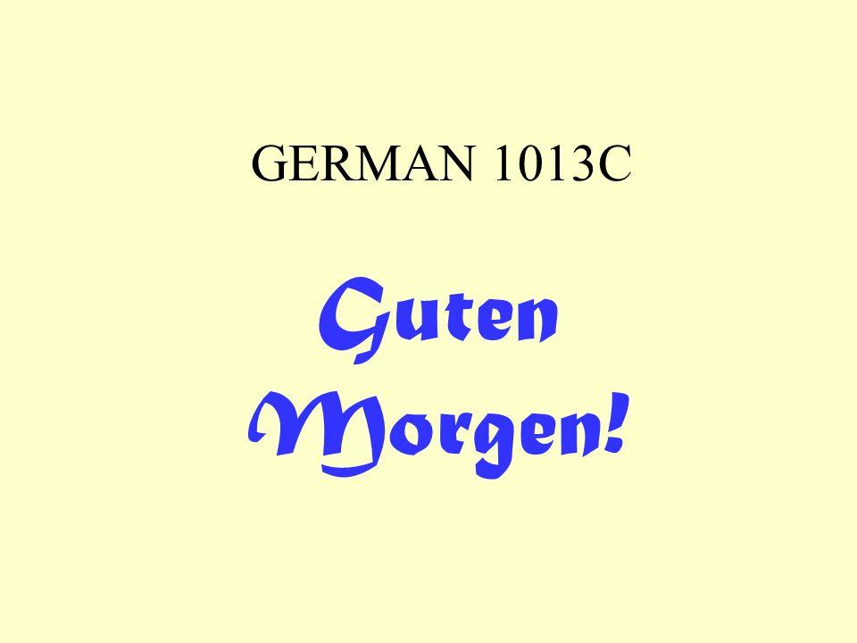 GERMAN 1013C Guten Morgen!
