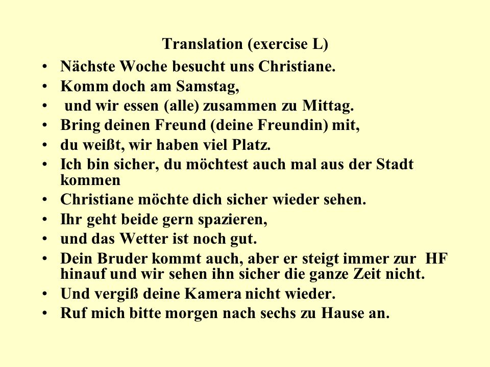 Translation (exercise L)