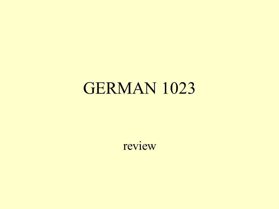 GERMAN 1023 review