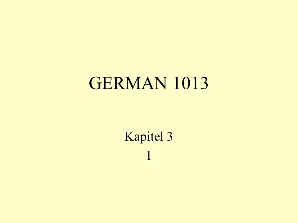 GERMAN 1013 Kapitel 3 1