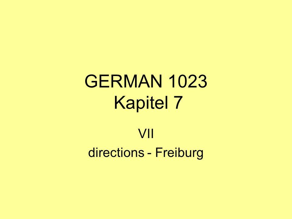 VII directions - Freiburg