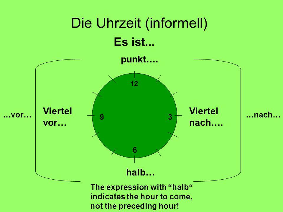 Die Uhrzeit (informell)