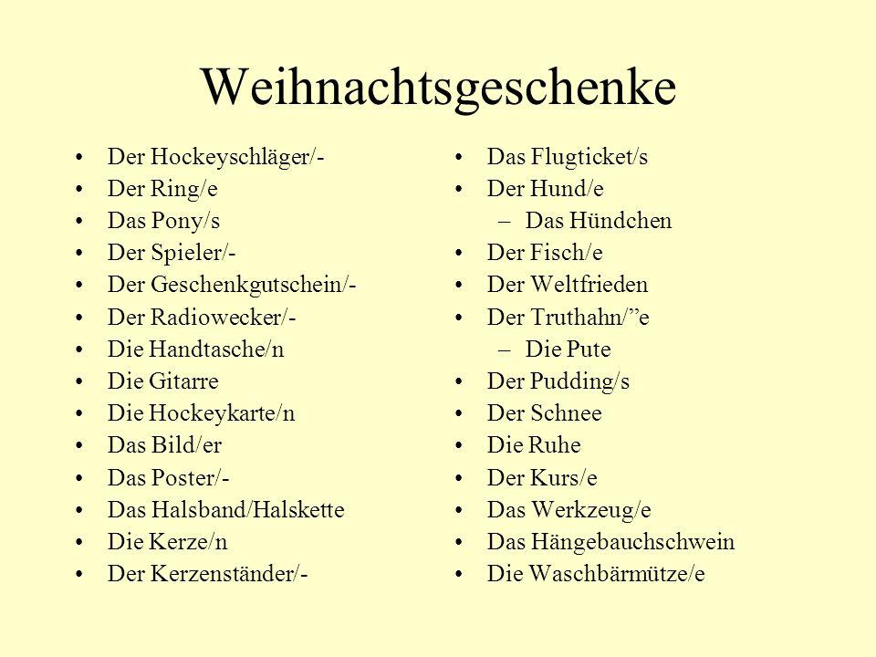 Weihnachtsgeschenke Der Hockeyschläger/- Der Ring/e Das Pony/s