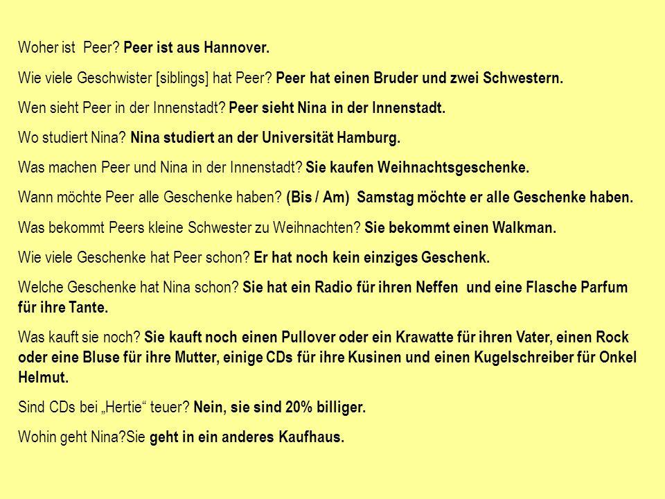 Woher ist Peer Peer ist aus Hannover.