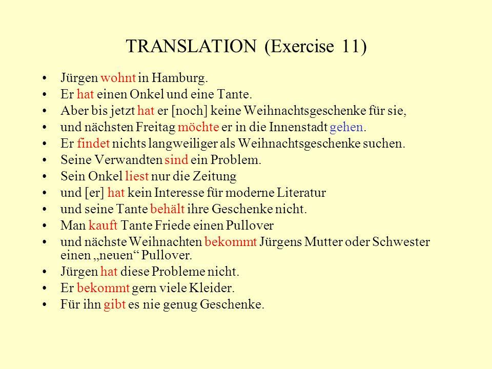TRANSLATION (Exercise 11)