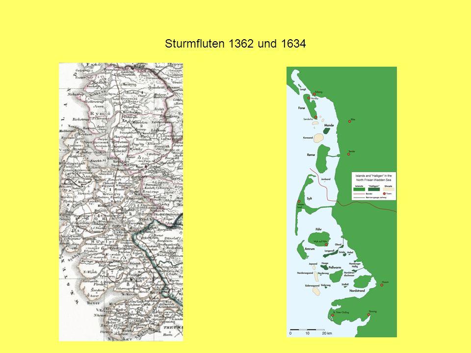 Sturmfluten 1362 und 1634