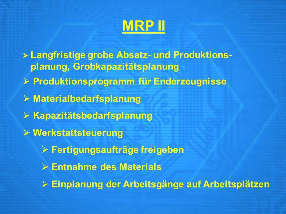 MRP II planung, Grobkapazitätsplanung