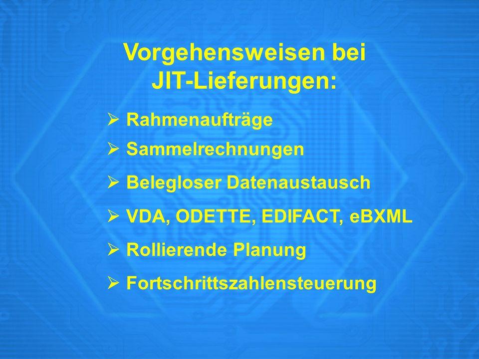 Vorgehensweisen bei JIT-Lieferungen: