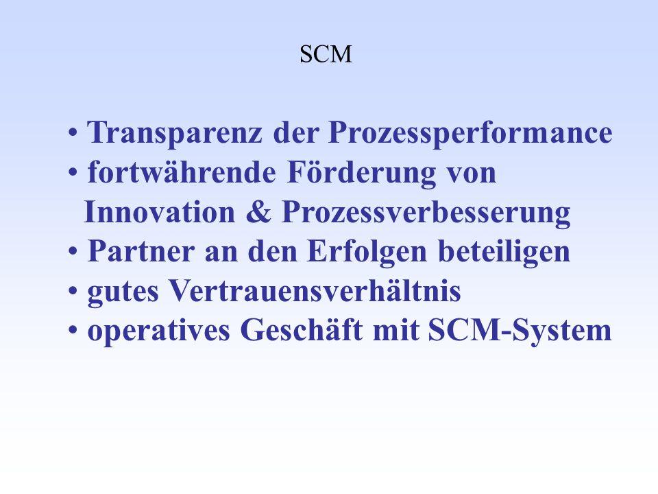 Transparenz der Prozessperformance fortwährende Förderung von
