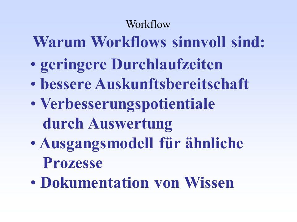 Warum Workflows sinnvoll sind: