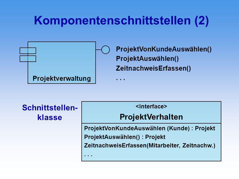 Komponentenschnittstellen (2)